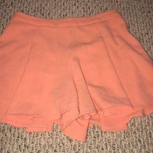 Flowy coral shorts